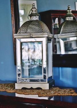 metallic and mirrored extra large lanter