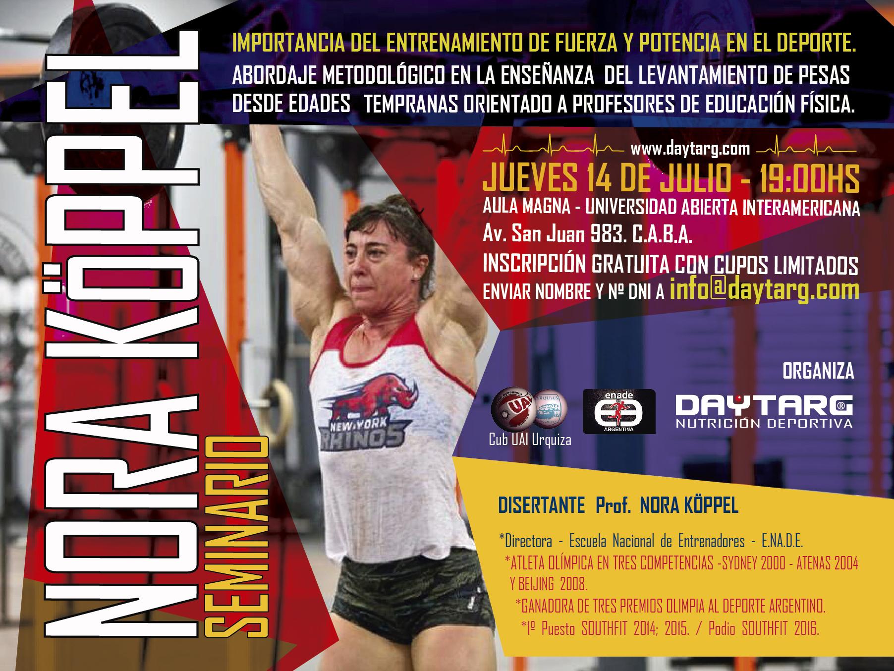 ENADE DAYTARG Nutrición Deportiva