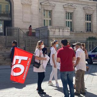 Nice : Les soignants et Force Ouvrière appellent la population à les soutenir