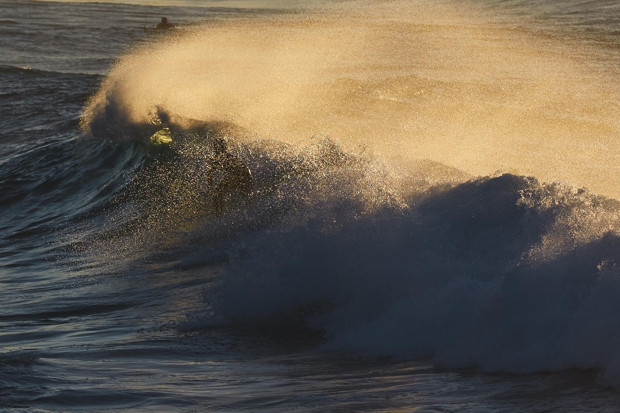 Bronte Beach waves at sunrise