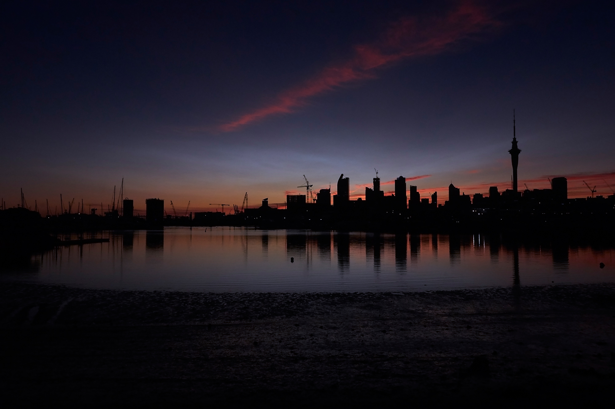 Sunrise at Westhaven, Auckland