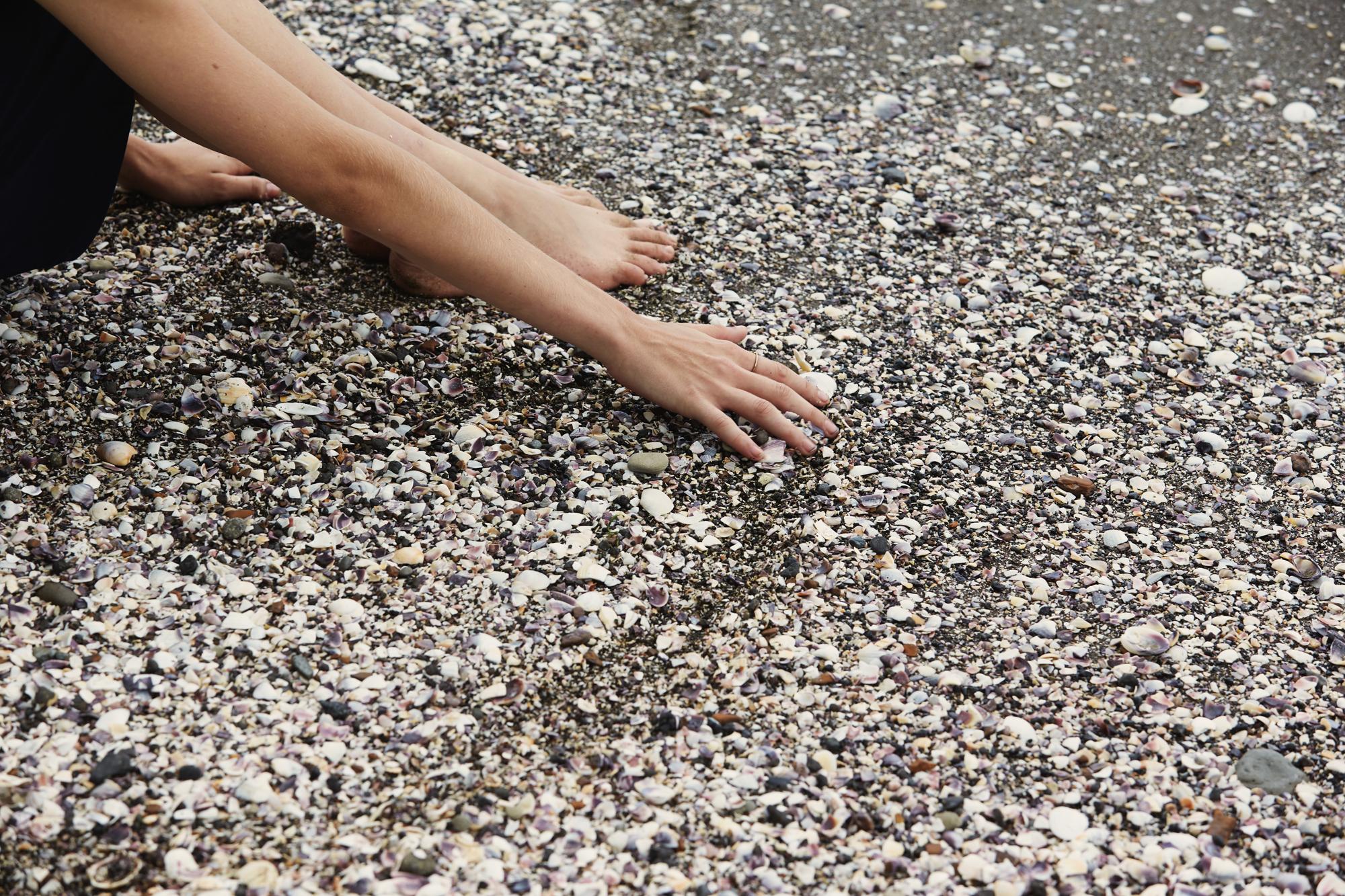 Hands in Karaka Bay