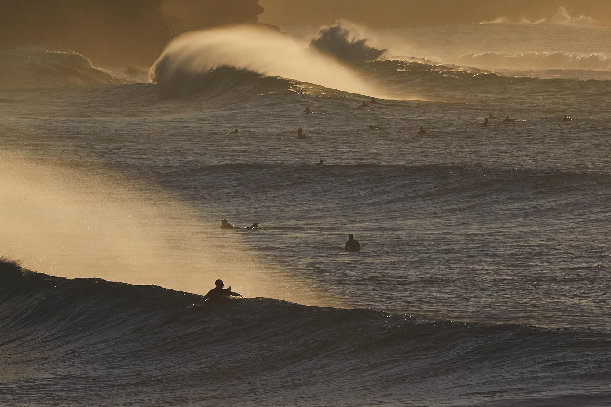 Bronte Beach surfing