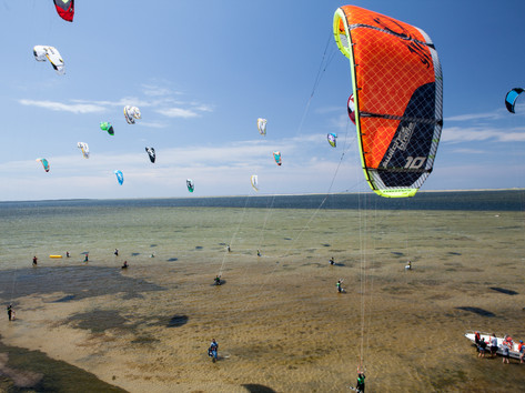 Kitesurf parc régional des iles