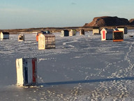 cabanes à éperlans Iles-de-la-Madeleine