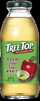 樹頂蘋果綠茶360ml玻璃瓶