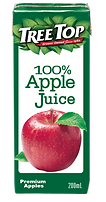 樹頂100%純蘋果汁200ml利樂包