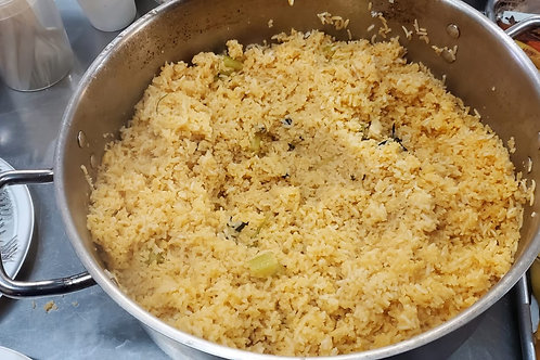 1/2 pan arroz/rice