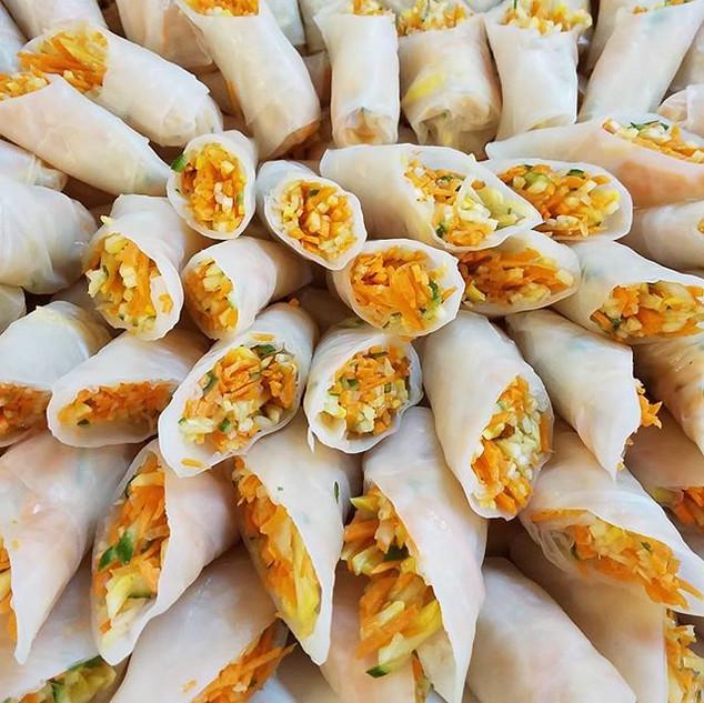 Vietnamese Veggie Springrolls with Maple
