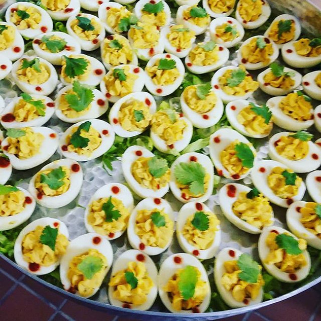 Sriracha Deviled Eggs__#eggs #deviledegg