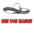 Mis Dos Magos logo white with red type.p