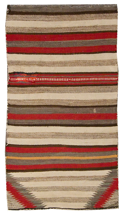 "Native American Saddle Blanket - 28"" x 52"""