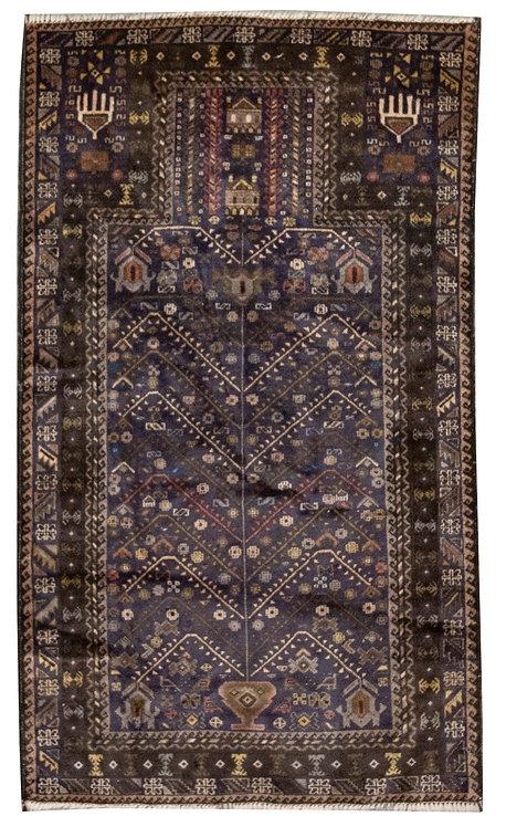 "Baluch Prayer Rug - 2'11""x 4'10"""