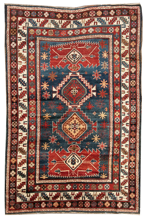 """Caucasian Kazak - 5'4"""" x 8'0"""""""