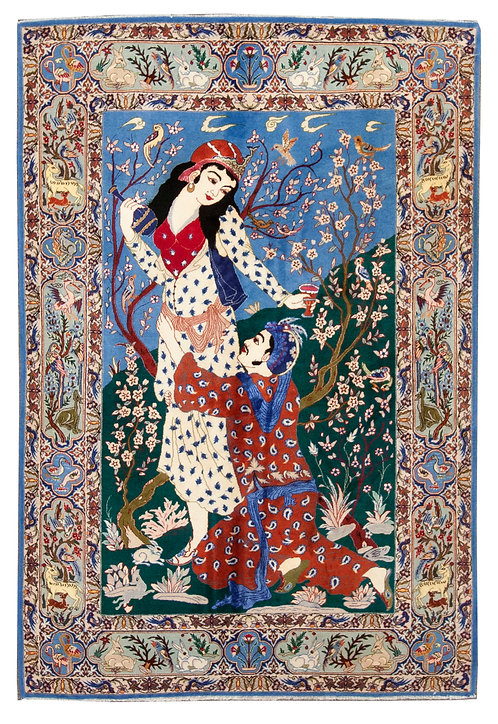 """Pictorial Isfahan - 3'6"""" x 5'2"""""""