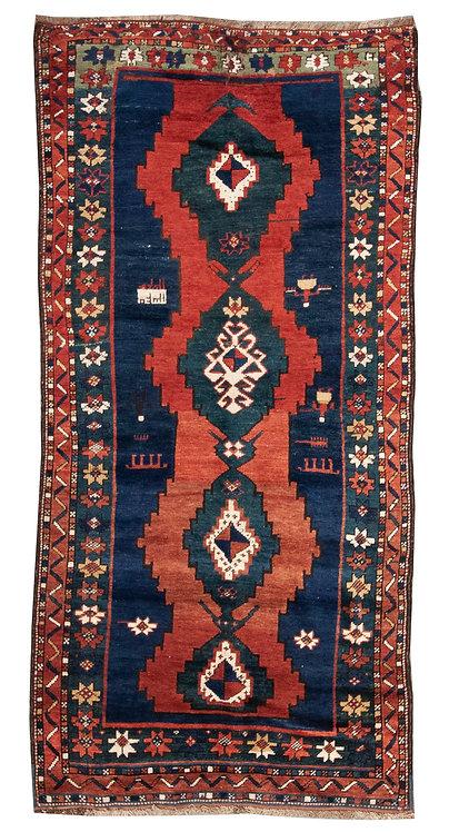 """Caucasian Kazak - 3'10"""" x 7'10"""""""