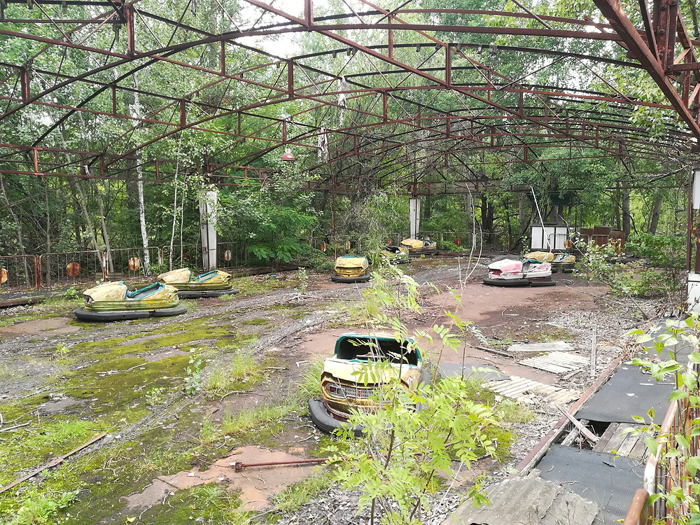 Chernobyl nuclear disaster bumper cars