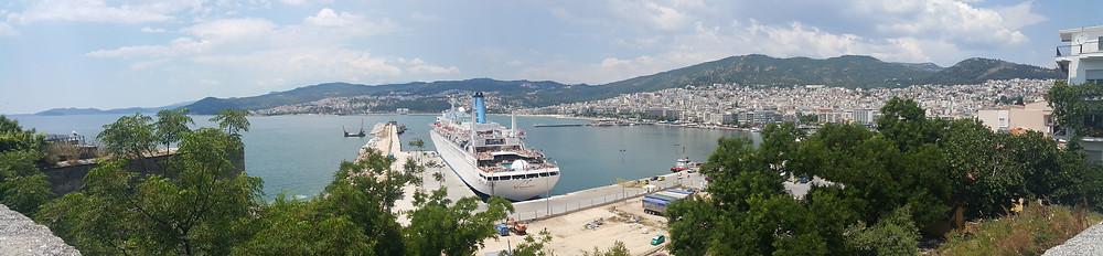 Thomson Spirit at port in Kavala, Greece.