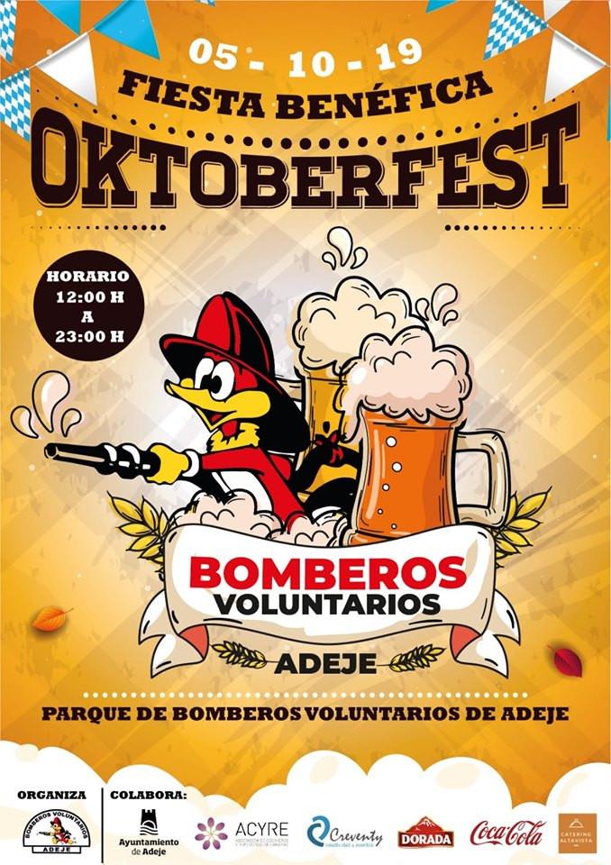 Adeje Bomberos Fundraiser poster - 05 October 2019, Parque de bomberos volunterios de Adeje.  midday to 11PM