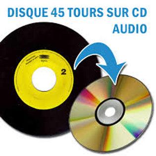 copie de Disques 45 tours à numériser sur CD