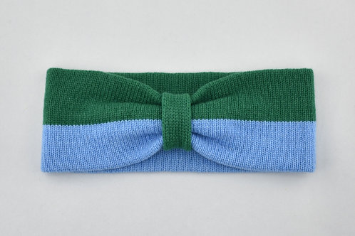 Ladies Headband - Light Blue & Green