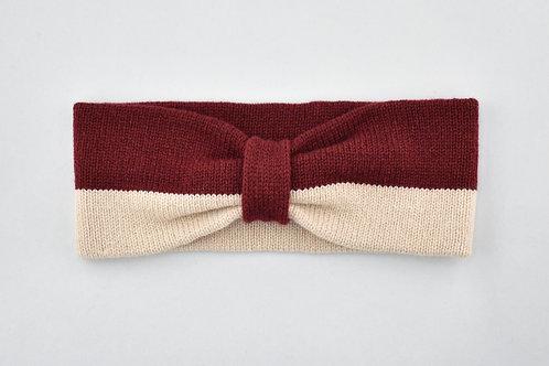 Ladies Headband - Oatmeal &n Carmine