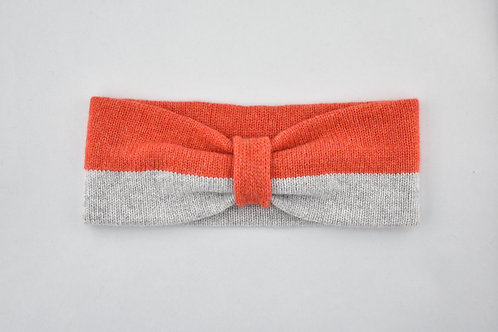 Ladies Headband - Pearl Grey & Red