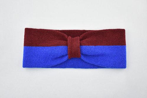 Ladies Headband - Blue & Carmine