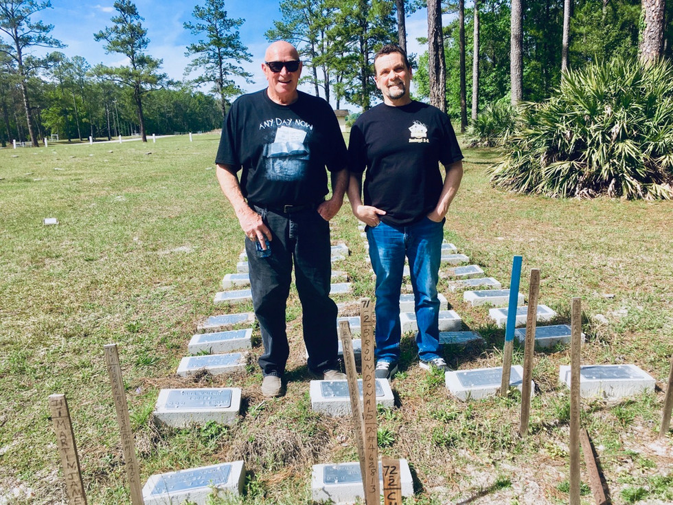 Bill and Ray at the Prison Graveyard
