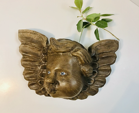 Hand Carved Angel Wall Hanging