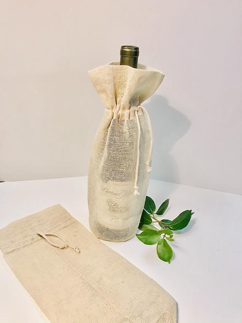 Natural Jute Wine Bag