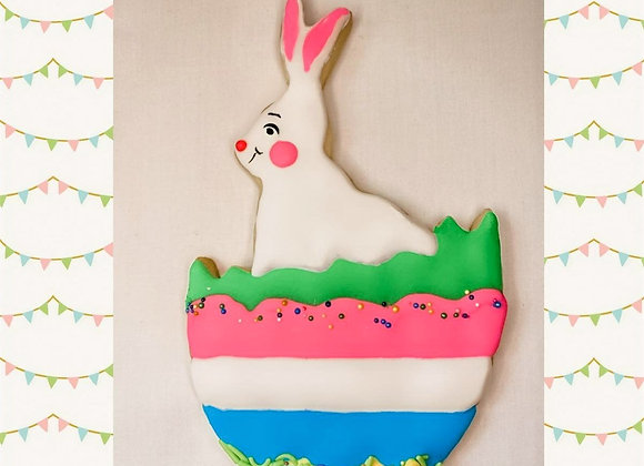 Personalized Bunny Sugar Cookie