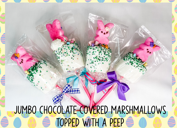 Jumbo Chocolate Covered Marshmallows with Peeps