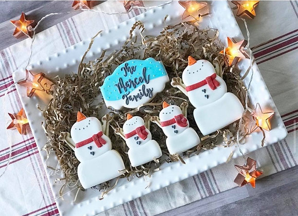 The Snowman Cookie Family