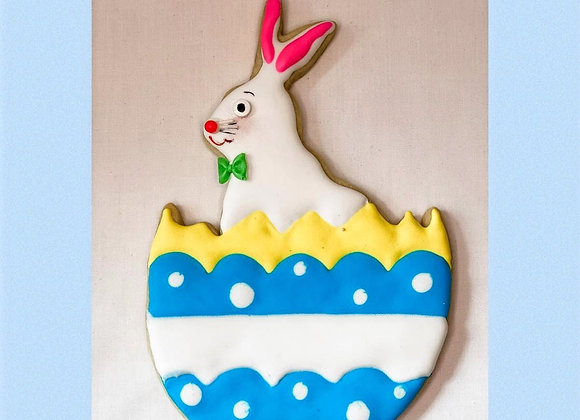 Large Easter Bunny Personalized Cookie