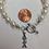 Thumbnail: Alpha Sigma Alpha Sorority Greek Freshwater Pearl Bracelet w/Toggle Clasp