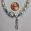 Thumbnail: Kappa Alpha Theta Sorority Greek Lavaliere Freshwater Pearl Bracelet
