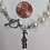 Thumbnail: Gamma Phi Beta Sorority Greek Lavaliere Freshwater Pearl Bracelet w/Toggle Clasp