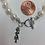 Thumbnail: Sorority Sigma Delta Tau Greek Freshwater Pearl Bracelet w/Toggle Clasp