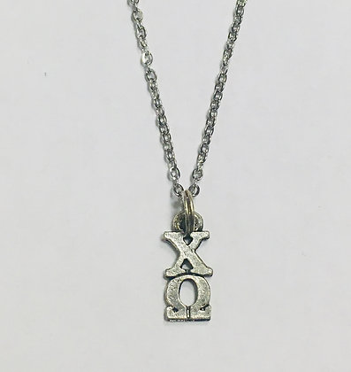 Chi Omega CO Sorority Lavaliere Necklace