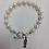 Thumbnail: Alpha Xi Delta Sorority Greek Lavaliere Freshwater Pearl Bracelet w/Toggle Clasp
