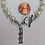 Thumbnail: Sigma Sigma Sigma Sorority Greek Lavaliere Freshwater Pearl Bracelet