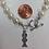 Thumbnail: Theta Phi Alpha Sorority Greek Lavaliere Freshwater Pearl Bracelet w/Toggle