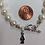 Thumbnail: Delta Zeta Sorority Greek Freshwater Pearl Bracelet w/Toggle Clasp