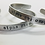 Thumbnail: Alpha Chi Omega AXO Greek Sorority Bracelet - handstamped cuff bracelet