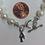 Thumbnail: Delta Gamma Sorority Greek Lavaliere Freshwater Pearl Bracelet w/Toggle Clasp