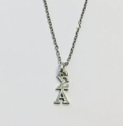Sigma Alpha SA Sorority Lavaliere Necklace
