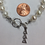 Thumbnail: Delta Delta Delta Sorority Greek Freshwater Pearl Bracelet w/Toggle Clasp