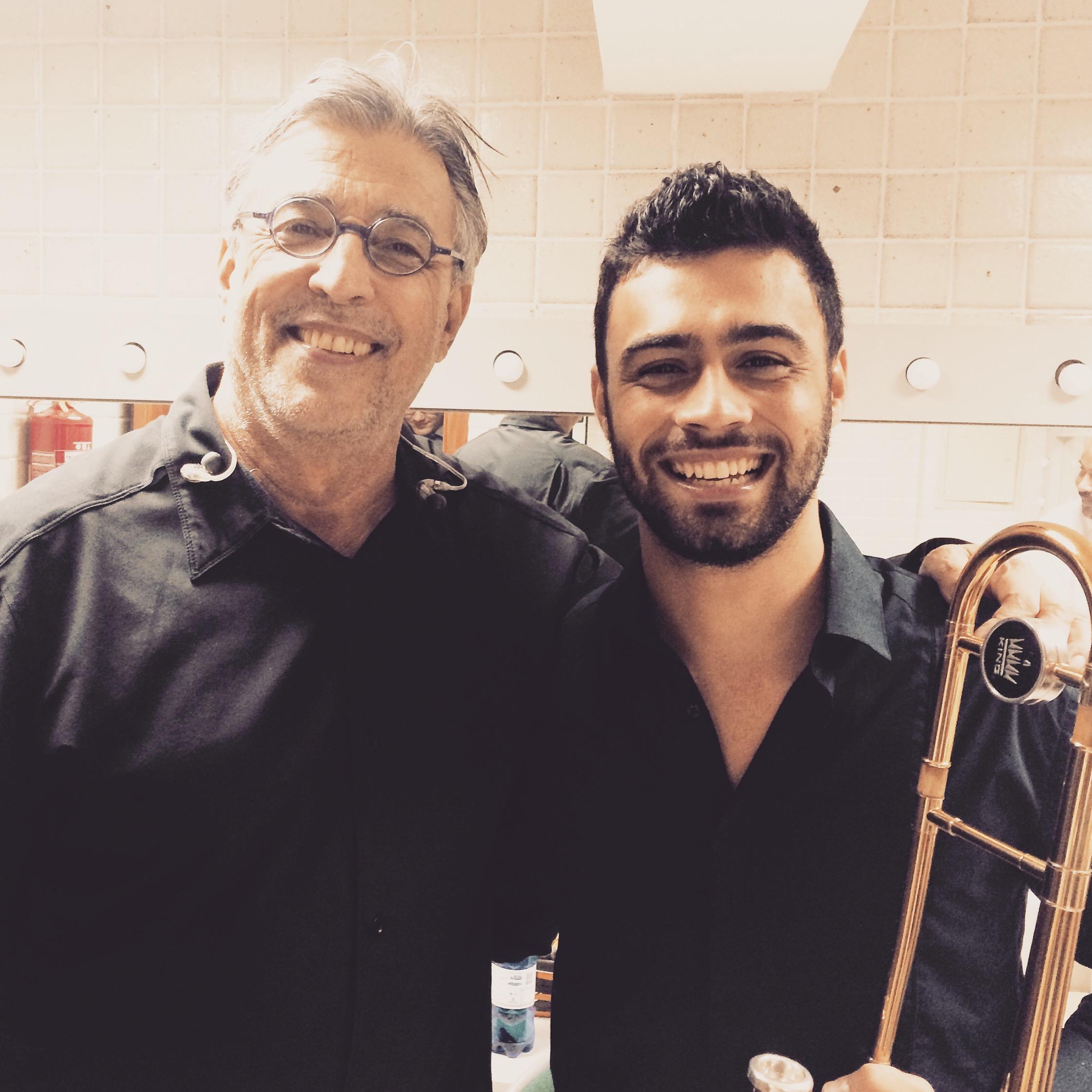 Com Ivan Lins após Concerto