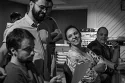 Gravação com Luciana Alves e Bernardo Ra